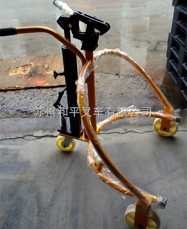 COY0.3-苏州力夫特液压油桶搬运车 三轮油桶小车